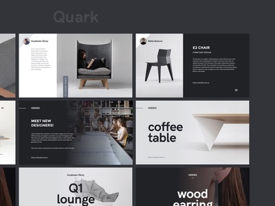 Quark template furniture product brand typography creativemarket presentation layout keynote