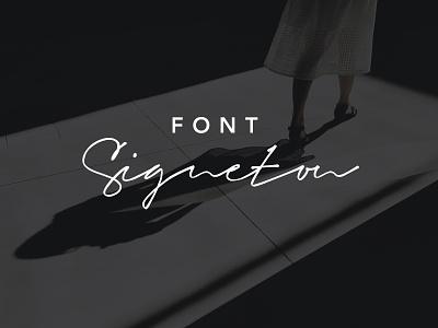 Signeton Font calligraphy ttf brand logotype sign typeface logo pen handwritten signature script font
