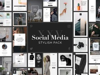 Social Media Pack / 25 PSD Templates