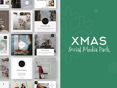 Xmas Stylish Social Media Pack