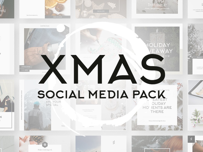 Cover 2 xmas stylish social media pack by goashape