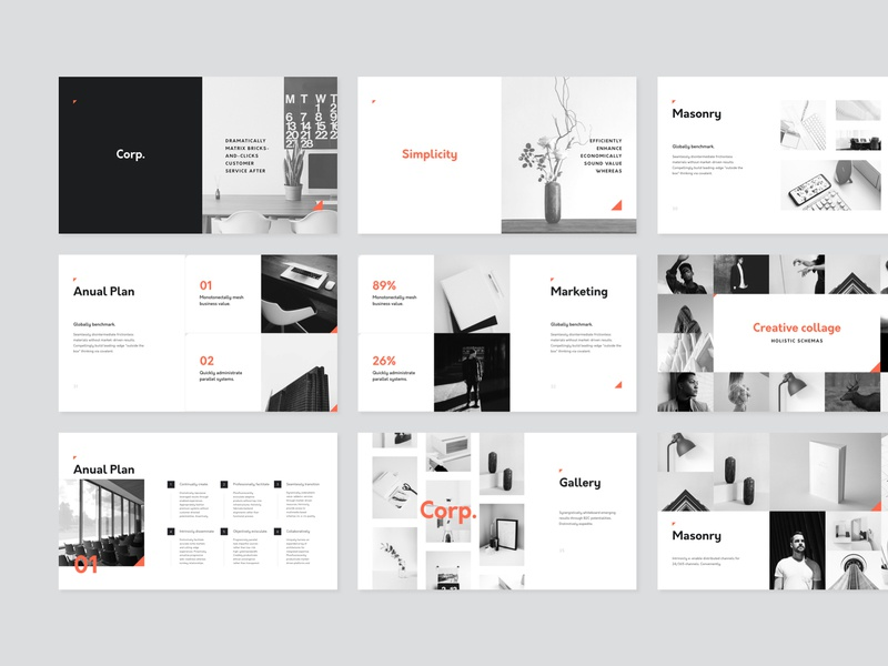 corp keynote presentation template by goashape dribbble dribbble