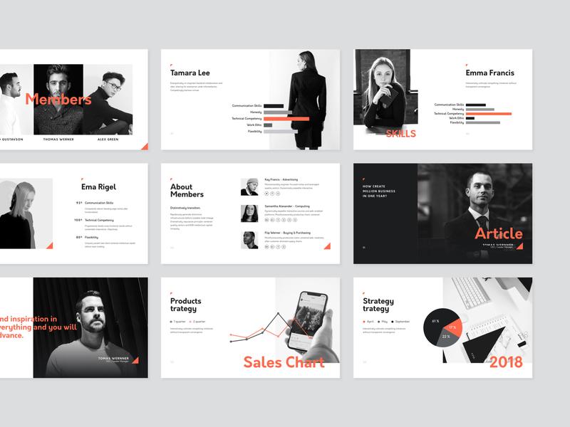 Corp. Presentation Template portfolio document print flat deck minimal modern minimalistic template typography layout ui creative logo slide brand presentation keynote