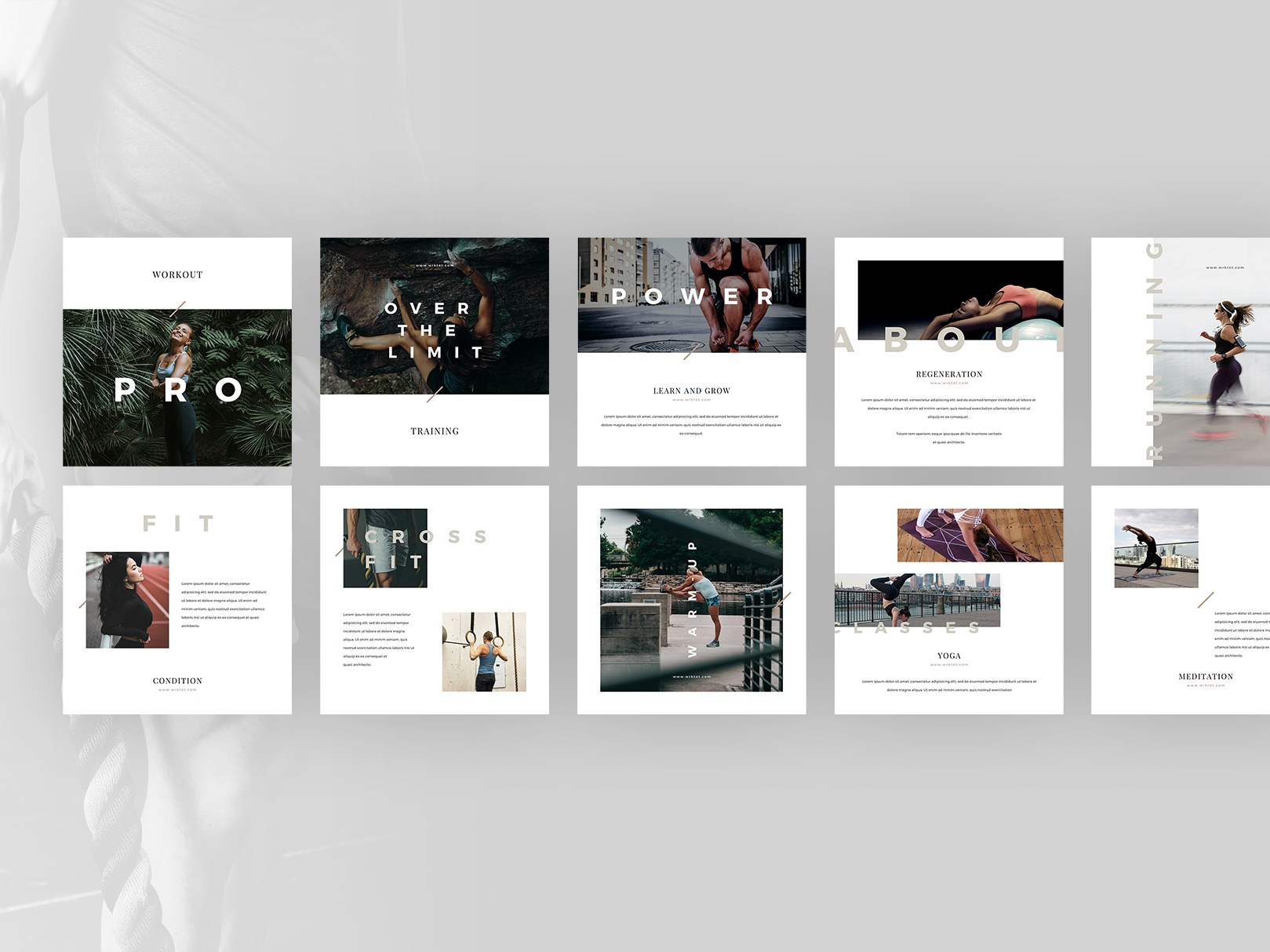 3 workout canva social media by goashape
