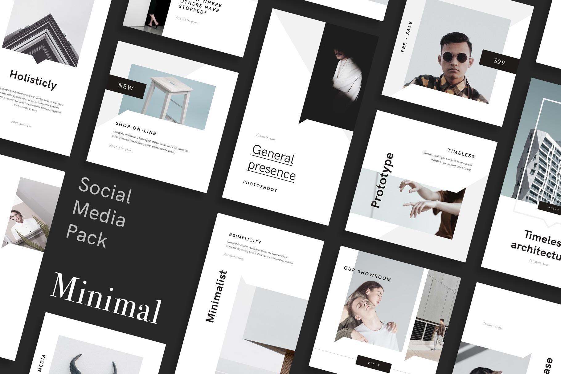 Minimal social media pack by goashape cover