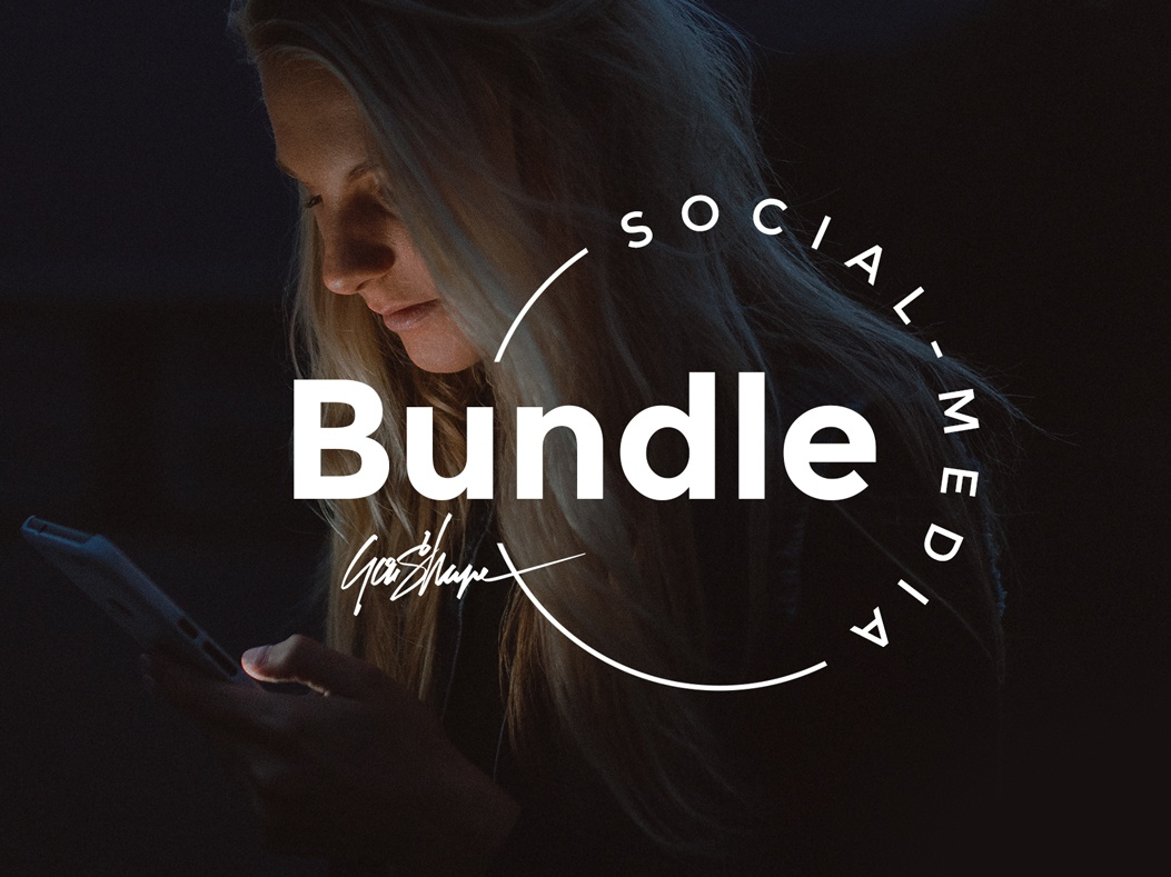 Social Media Bundle logo layout brand instagram post blog stories instagram goashape psd template photoshop creative market branding social media bundle social media bundle
