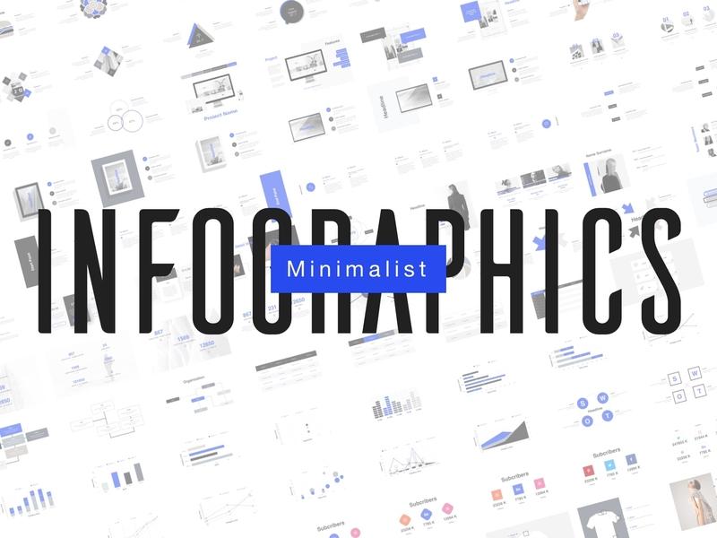 Minimalist Infographics slide keynote presentation minimal infographic design business stratup pitch deck icon brand modern clean minimalist infographicsmag graph chart template infographic infographics