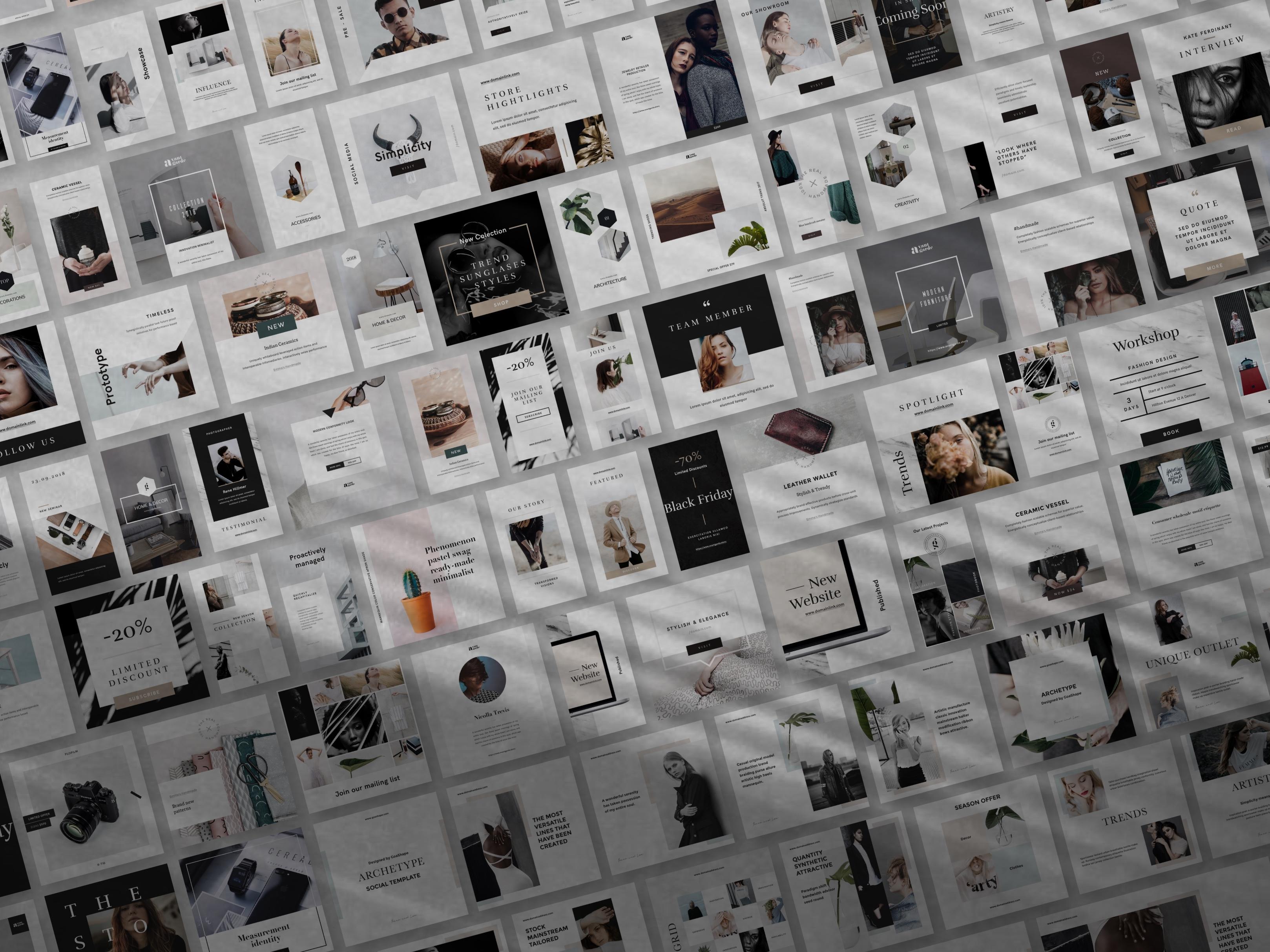 Social media bundle showcase