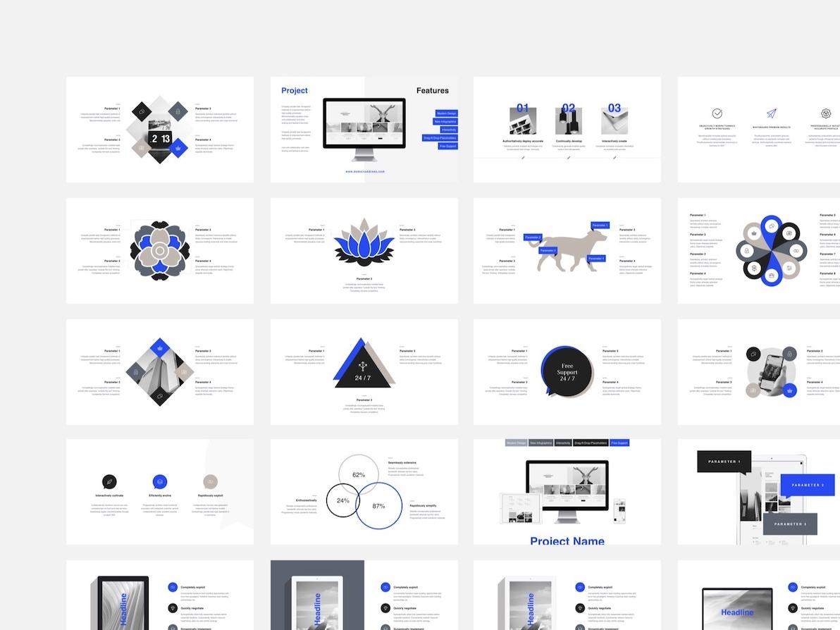 Minimalistic Keynote Infographics Template infographics graph slide deck brand illustration ui template layout presentation minimal keynote chart infographic