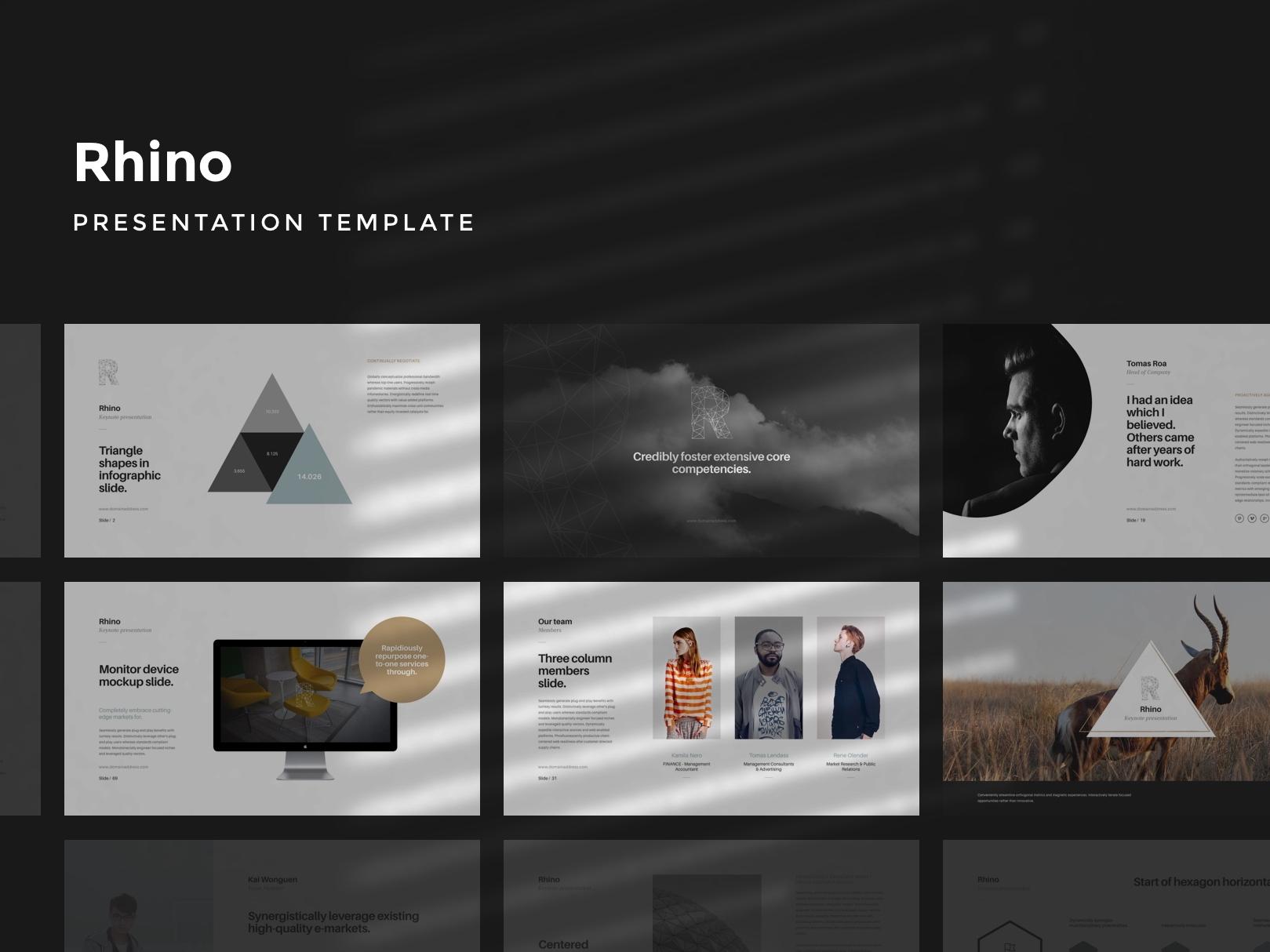 Rhino keynote presentation template by goashape cover