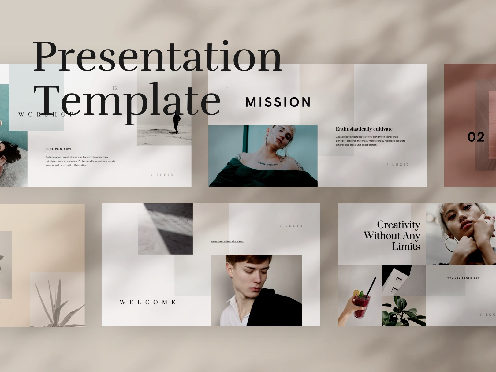 Lucid presentation template cover