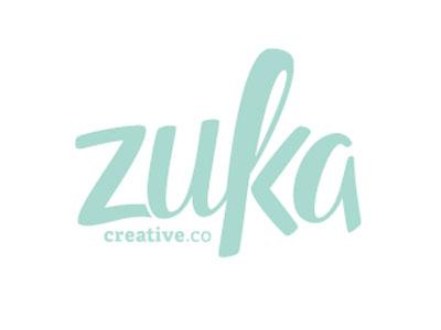 New logo zuka creative hand-letter hand drawn creative light blue blue photography wedding wedding photography invitation design