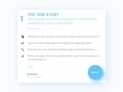 The Job Story simple clean glow floating ux ui