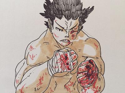 Graduation manga sketch illustration