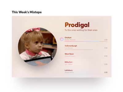 Prodigal gif white beige pink warm color ux ui app music