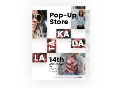 Latakada Poster typography fashion unsplash design print flyer poster