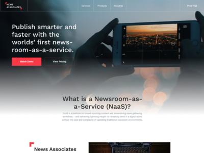 NaaSty Landing page web design ux ui
