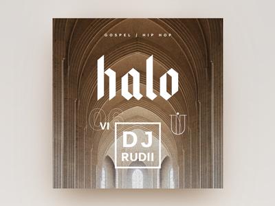 RudeTapes #06 HALO typography white flat mixtape design print gold gospel