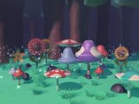 3D Scene Practice – Psilocybin Mushrooms