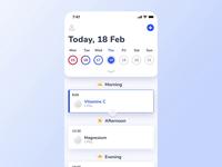 🦊 Medfox - iOS Calendar Prototype