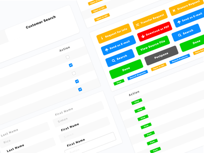 Components button chart table color user cute ux web app stats ui interface dashboard