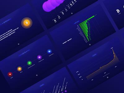 Cryptocurrency Slides ui infographic stats statistics data chart dark template slide presentation bitcoin business