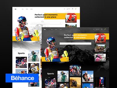 Photo Bank Design web interaction prague muzli prototype ui after effects animation ecommerce photo bank