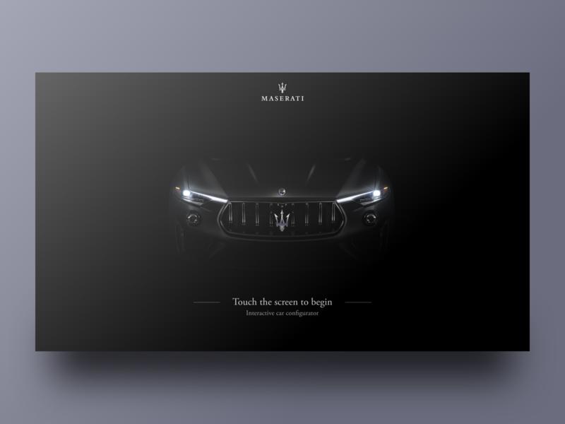 Maserati Configurator App - Intro Screen dark black clean design minimal loading onboarding intro app web car ux ui uxui