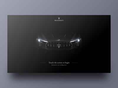 Maserati Configurator App - Intro Screen dark black clean design minimal loading onboarding intro app web car ux ui uxui