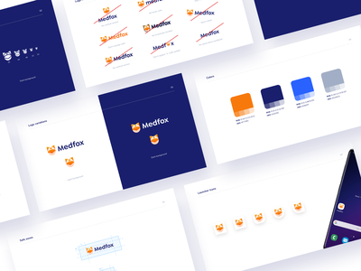 🦊 Medfox - Branding icons logo app branding brand identity brand fox icon favicon color brand guidelines brandbook color pallet medfox healthcare health logo manual