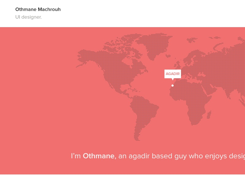 Portfolio - WIP ui ux flat portfolio webdesign website world map design