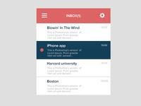 Flat Mail Widget - Inbox