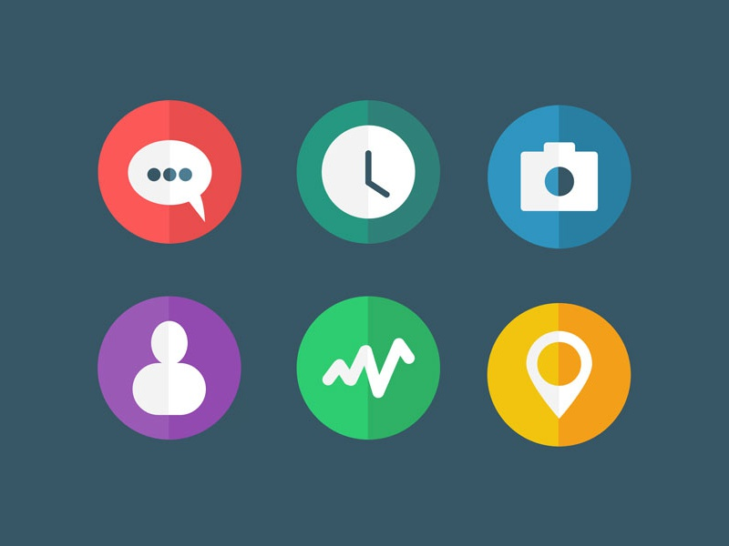 [FREEBIE] Flat Icons (.psd/.sketch) freebie ui ux icons flat illustration glyphs skeuo camera freebies clock design sketch sketch app