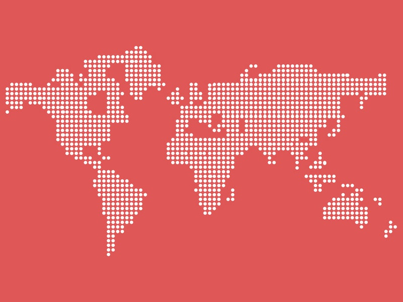 Freebie vector dotted world map d by othmane machrouh dribbble javascript not enabled gumiabroncs Gallery