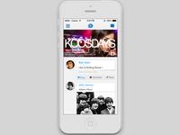 iPhone app - homepage/timeline