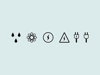 Icon set ecology ui ux icons nature light webdesign icon set pack