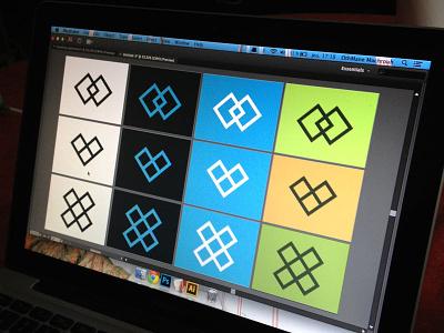 Branding in progress ui ux flat webdesign branding colors palette mark icons logo explorations