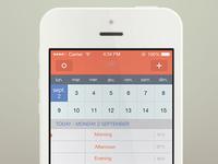 Sunrise iOS 7 redesign