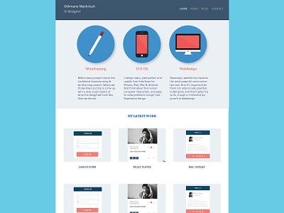 Update   Personal portfolio 1.1 update ui ux webdesign flat flat design icons badges portfolio fixed nav freelance