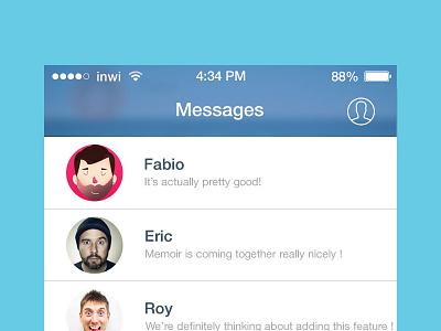 [FREEBIE] Facebook Messenger iOS 7 redesign freebie free psd ui ux icons ios 7 redesign facebook chat psd