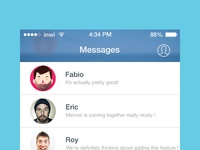 [FREEBIE] Facebook Messenger iOS 7 redesign