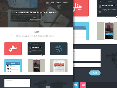Portfolio redesign ui ux flat webdesign portfolio redesign icons work case studies dribbble