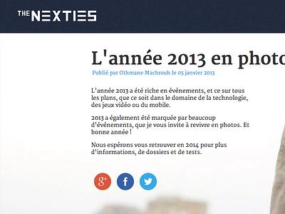 2013 photo recap ui ux flat webdesign js html5 css3 article webzine blog