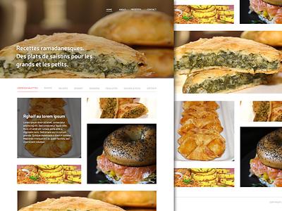 Food Website ui ux webdesign food masonry photography grid icons typography landing