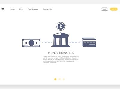 monetary operation online cartoon flat app web concept design icon vector illustration