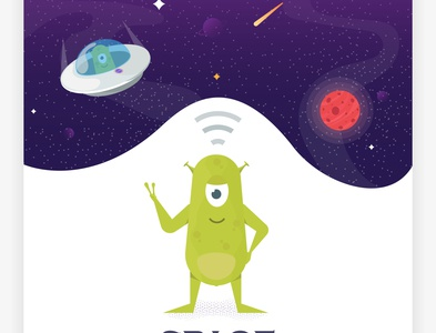space legend nasa legends spase animation flat cartoon web design vector illustration concept mars alien ufo