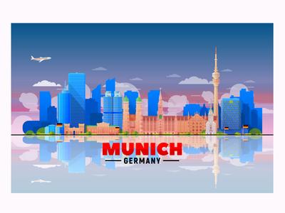 Munich vector skyline