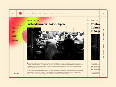 Concept of Japanese news web concept web website design user interface ui user experience gura nicholson news japanse japan