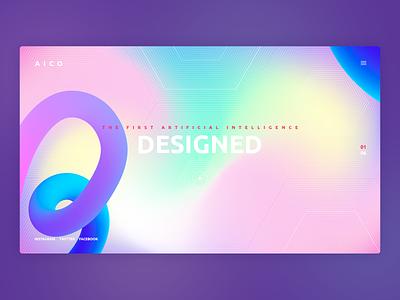 artificial intelligence website concept ai 3d design 3d design branding artificialintelligence user interface ui app uiux gura nicholson colorfull minimalism