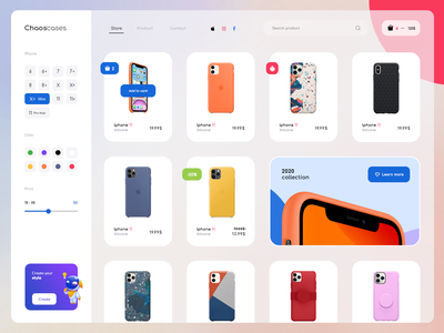 Chaoscases - Iphone cases online store design user experience website uiux commerce online store commerce shop real work real project user interface ui ui user interface shopping online store gura nicholson
